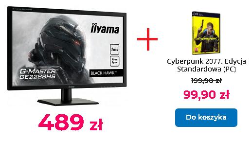 Monitor iiyama G-Master GE2288HS Black Hawk [1ms] + Cyberpunk 2077 za 99 zł (monitory iiyama w promocji z grą CP2077)