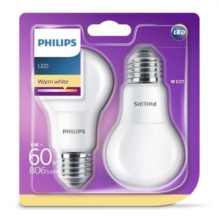 Żarówki Philips LED E27 8W, 11W, 13 W 2-pak Aldi