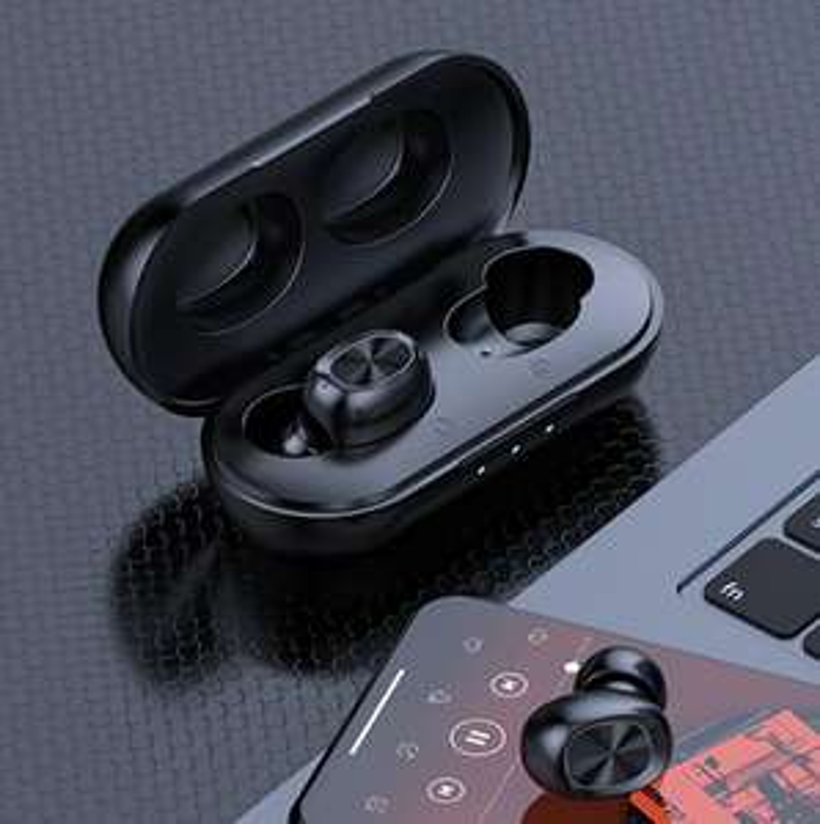 Słuchawki Bluetooth 5.0 douszne bezprzewodowe TWS B5 z powerbankiem