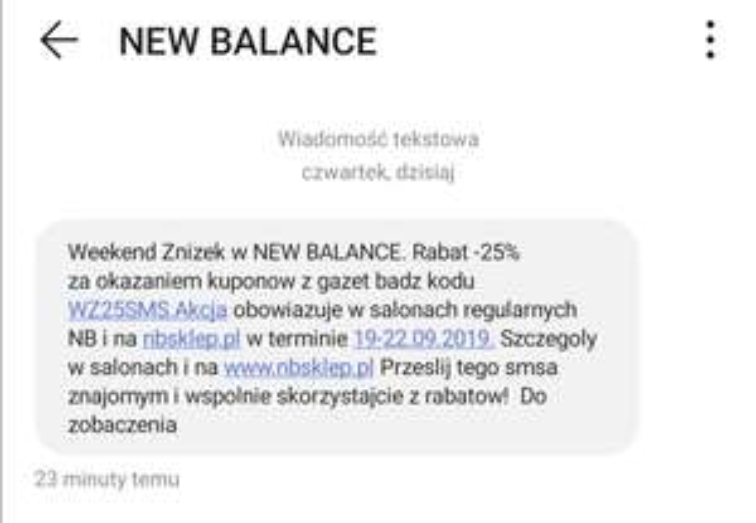 25% rabatu w NewBalance