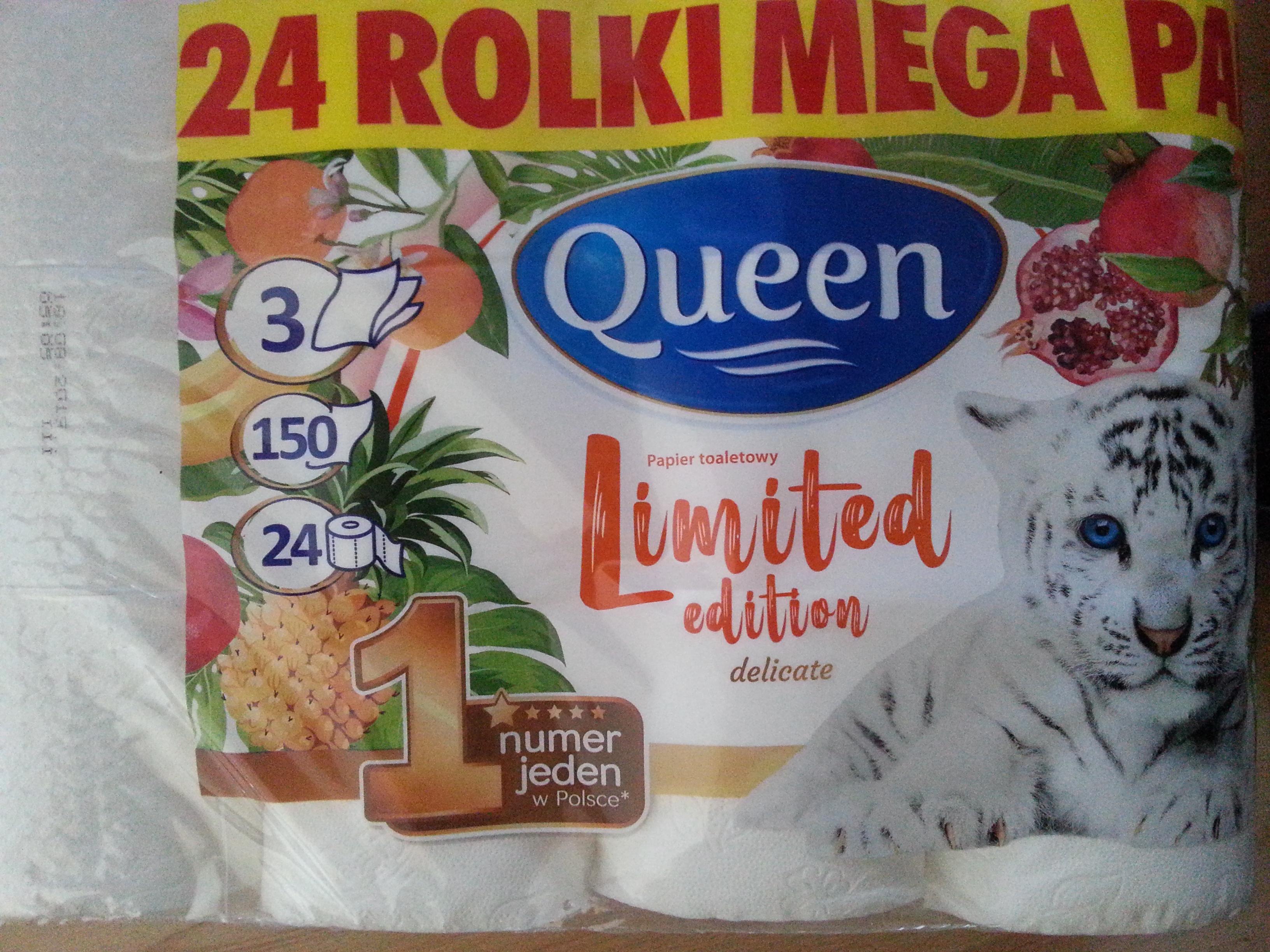 TANIE PODCIERANIE - Papier Toaletowy Queen 24 rolki Biedronka