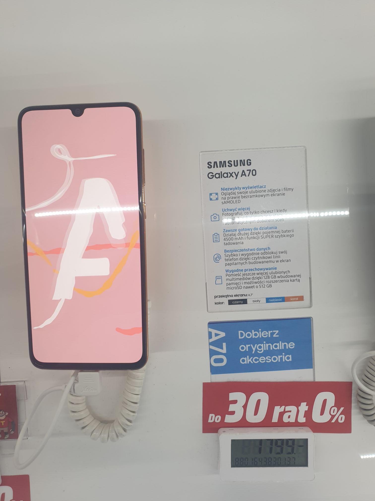Samsung a70+powerbank indukcyjny Samsung EB-u1200 +folia ochronna