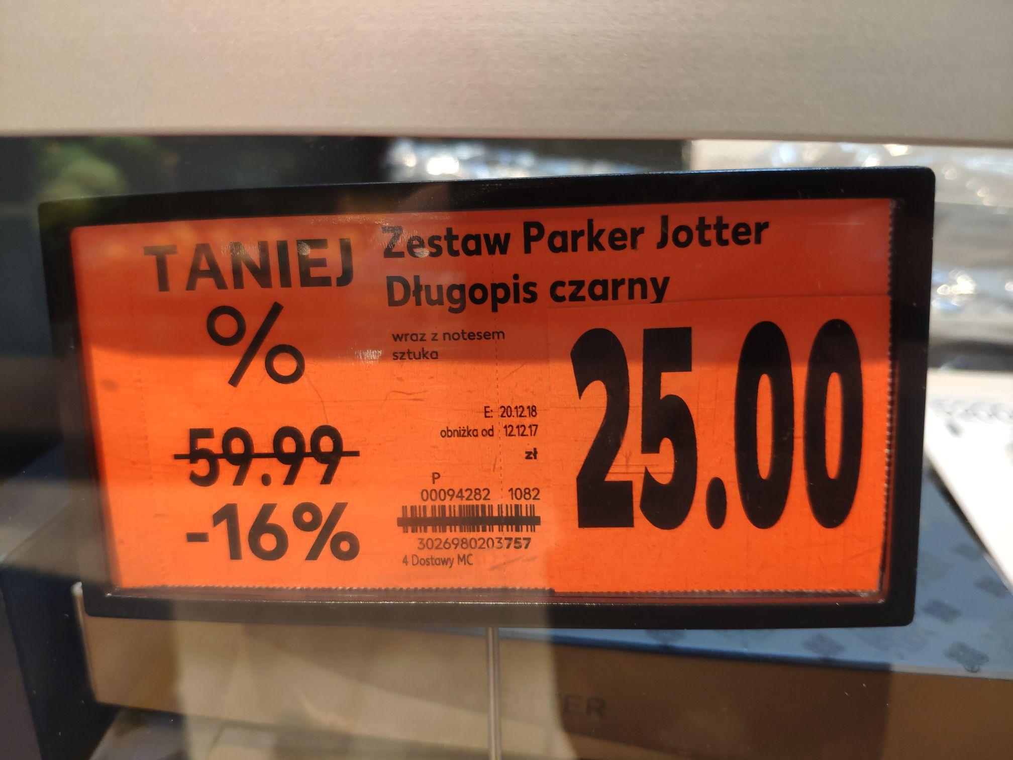 Długopis Parker Jotter czarny + notes ZESTAW