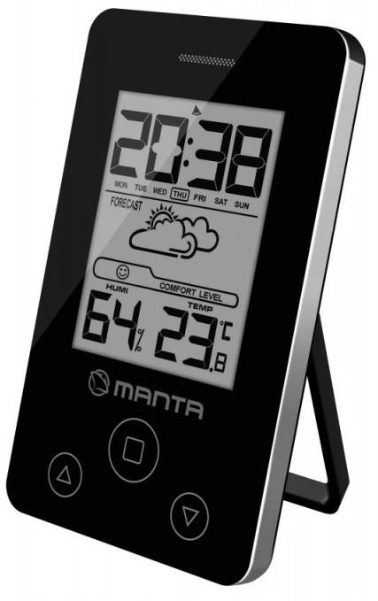 Termometr i higrometr pokojowy MANTA CLK011