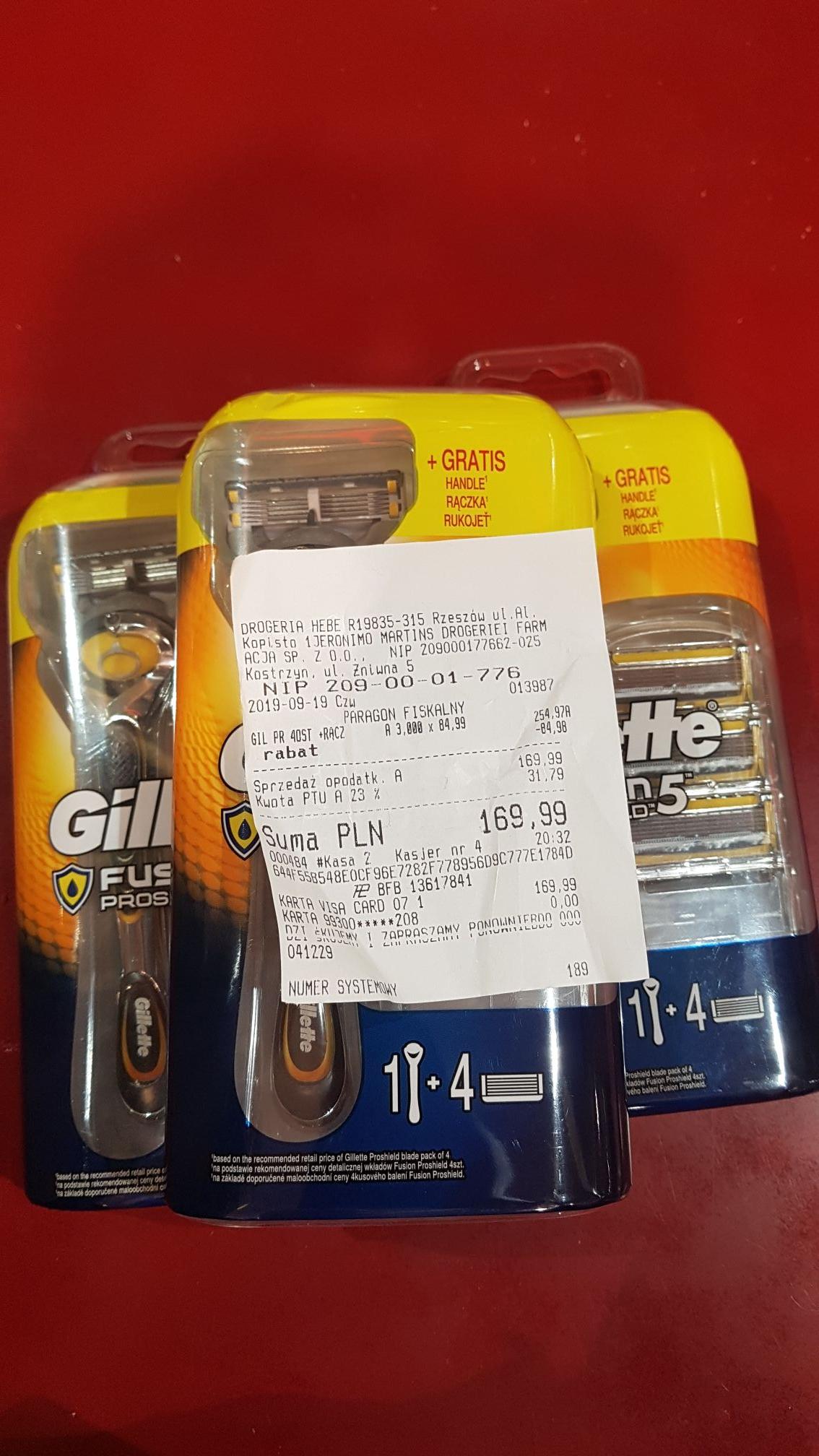 12 wkładów Gillete Fushion 5 Proshield