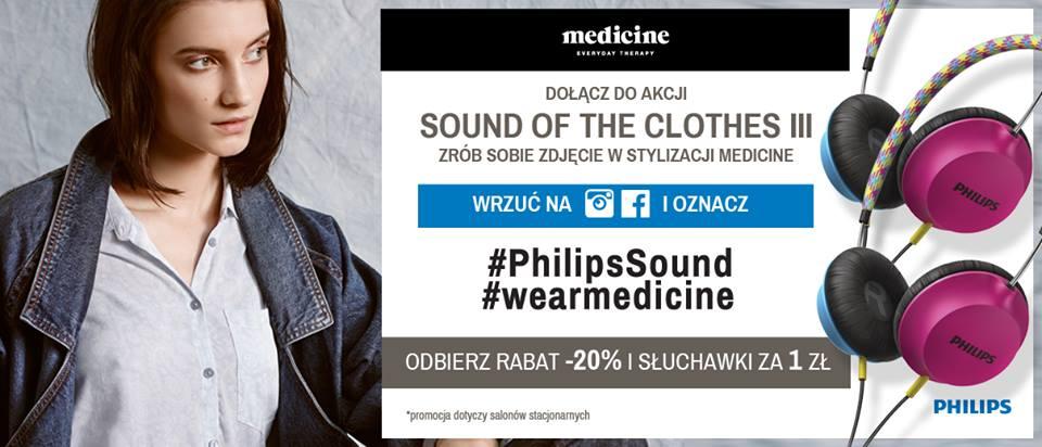 20% zniżki i słuchawki Philips za 1zł @ Medicine