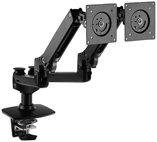 AmazonBasics uchwyt stołowy z ramionami do 2 monitorów