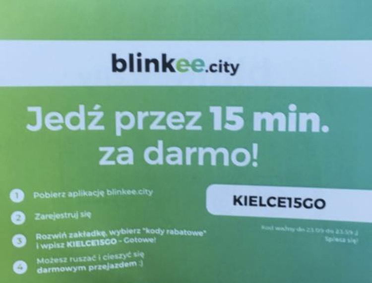 Darmowe 15 minut na blinkee w Kielcach.