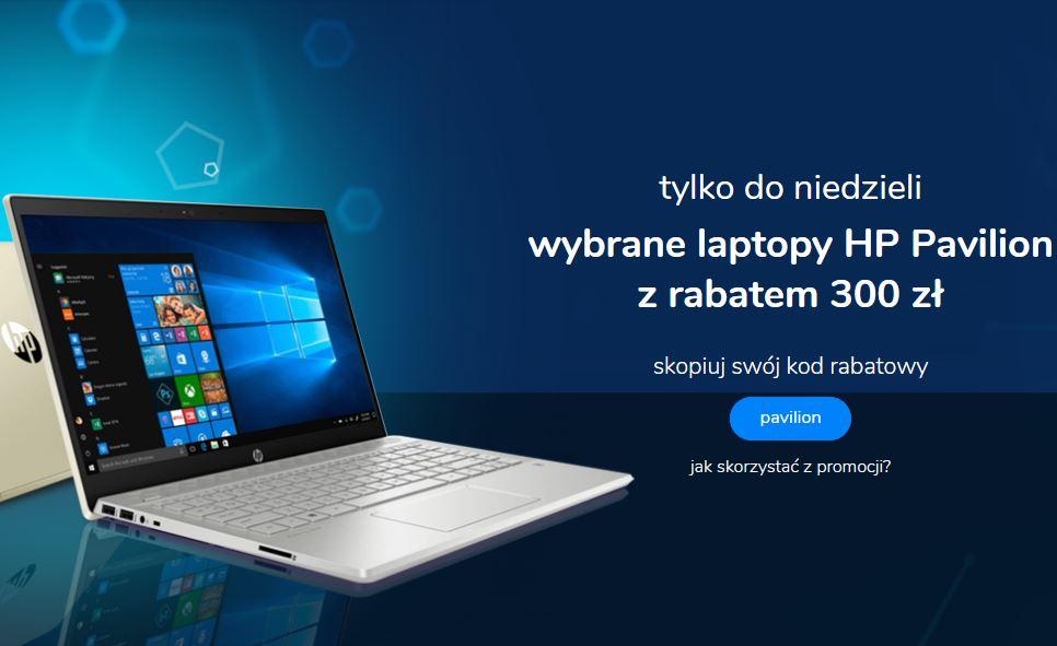 300 zł rabatu na wybrane laptopy HP + możliwość voucher out of warranty od HP