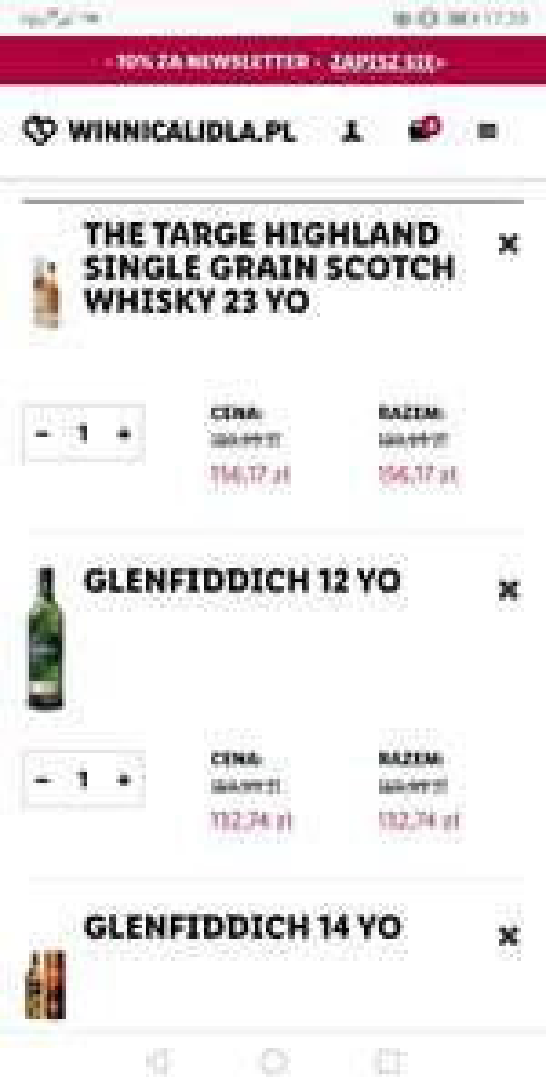 Whisky 23 yo THE TARGE HIGHLAND Single Grain - WINNICA LIDLA