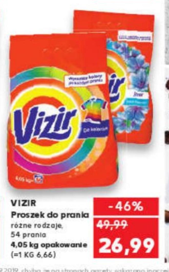 Proszek do prania Vizir 4.05 kg (54 prania) różne rodzaje@Kaufland 19.09-25.09