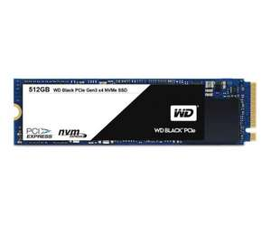WD 512GB M.2 PCIe NVMe Black