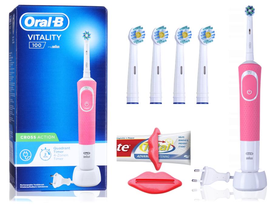 Szczoteczka Elektryczna Oral-B + Końcówki 3D Clean