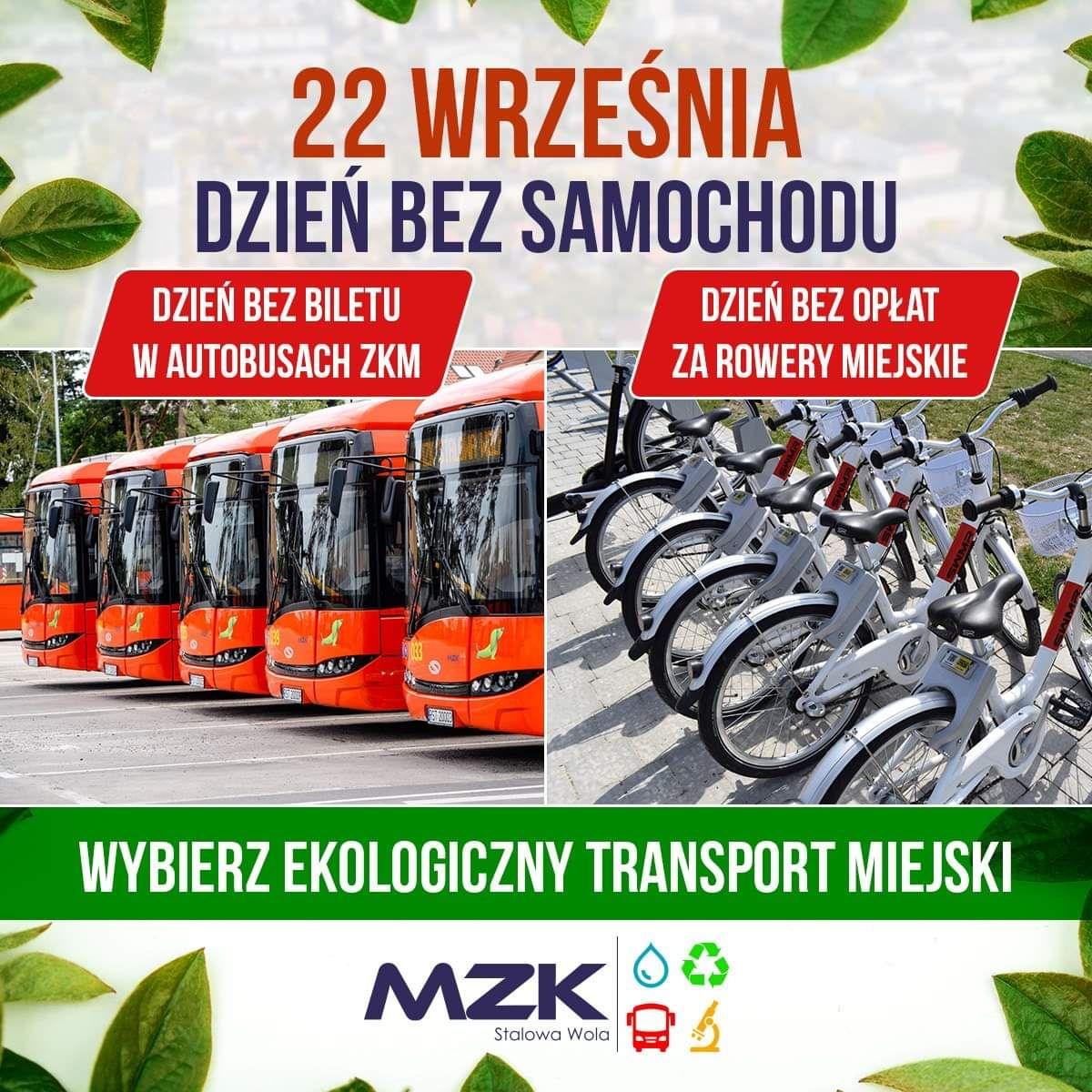 22 września darmowa komunikacja oraz rowery miejskie w Stalowej Woli