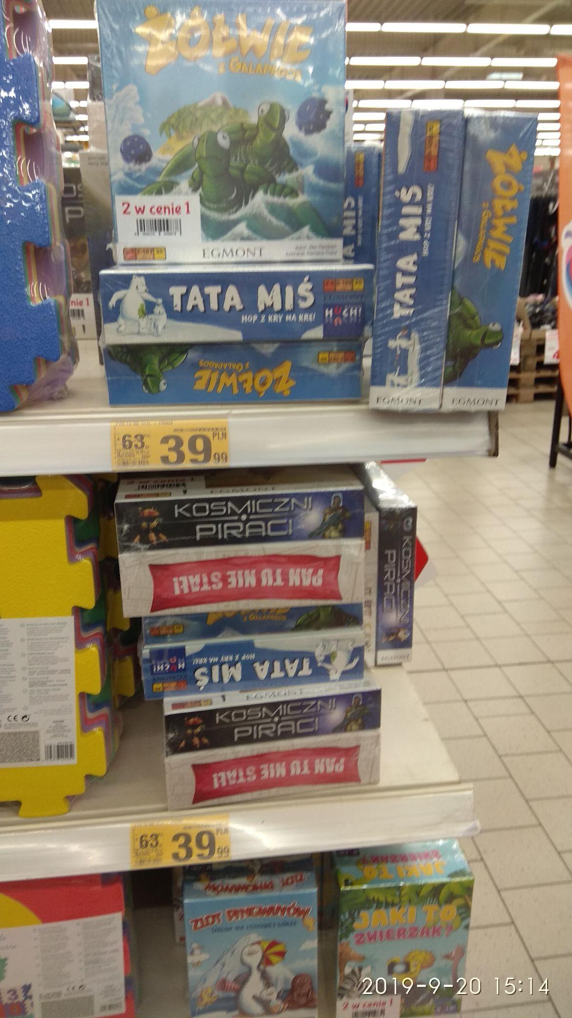 Auchan, Lublin, Chodźki. Pakiet 2 za 1 gry planszowe Egmont (być może nie tylko lokalnie)
