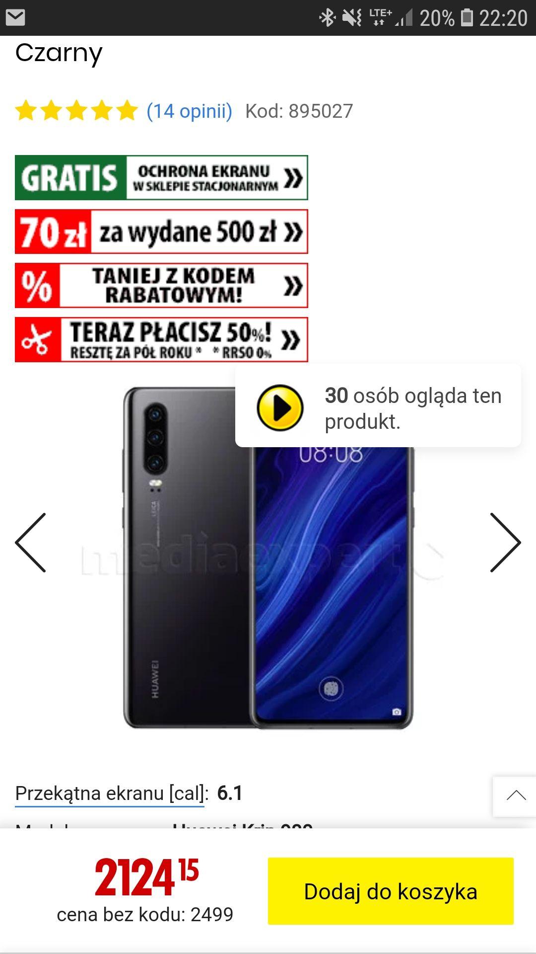 Huawei P30 w super cenie w MediaExpert
