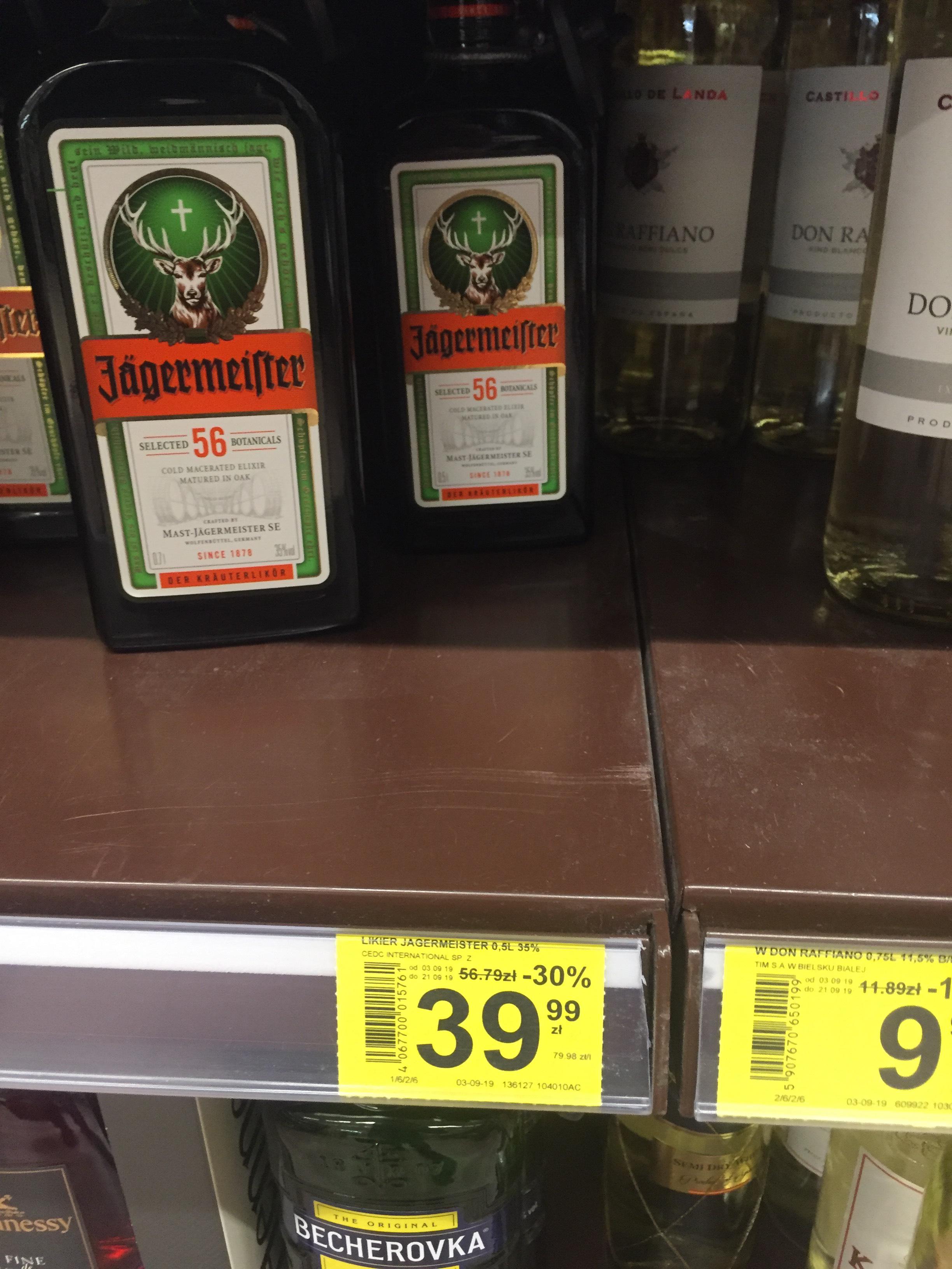 Jagermeister Likier 0 5l Carrefour Market Pepper Pl