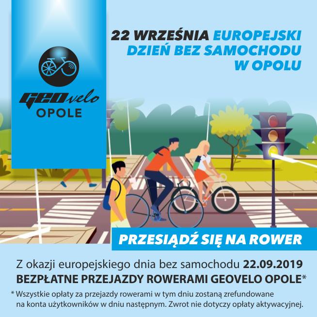 22 Września 2019 Bezpłatne przejazdy rowerami miejskimi w Opolu