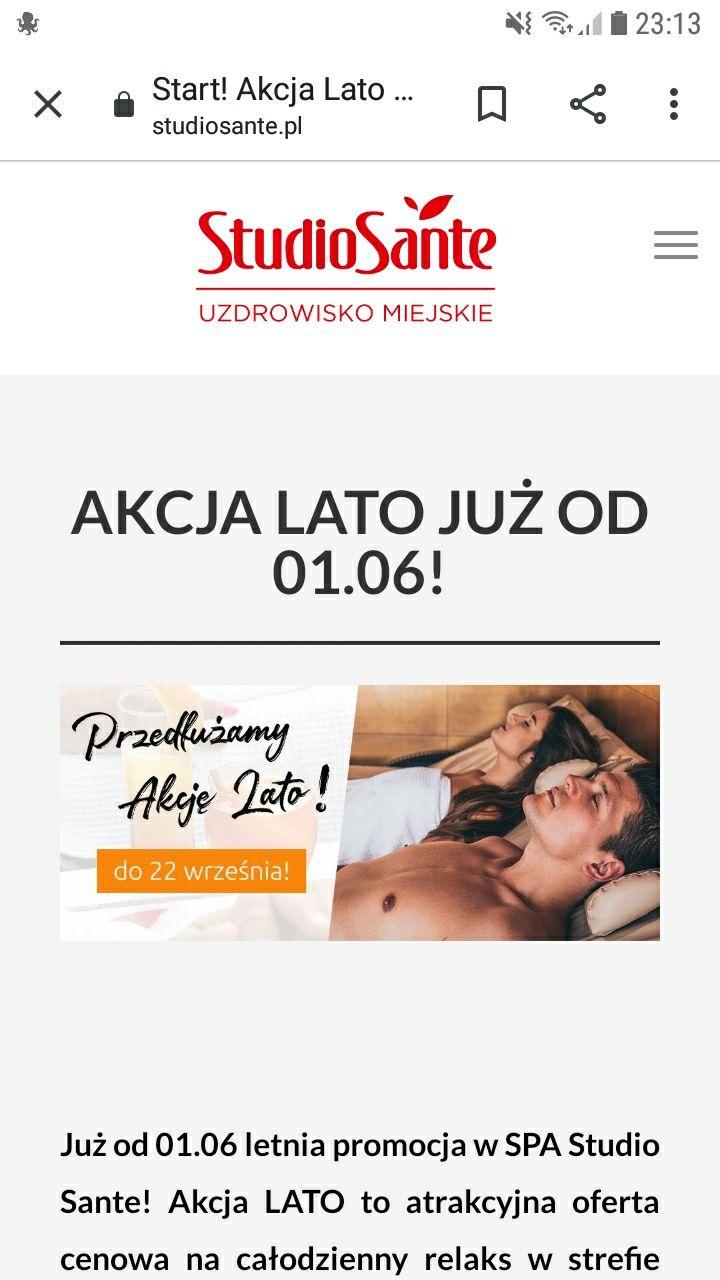Warszawa Studio Sante SPA caly dzien za 69zl