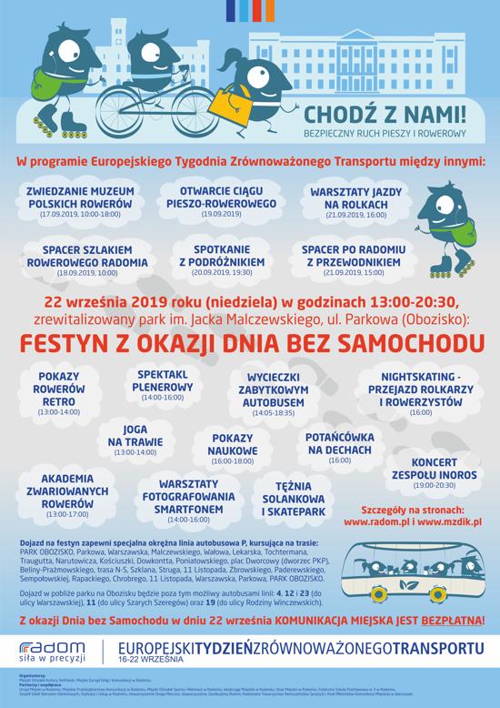 Bezpłatna komunikacja miejska w Radomiu 22.09.2019 r.