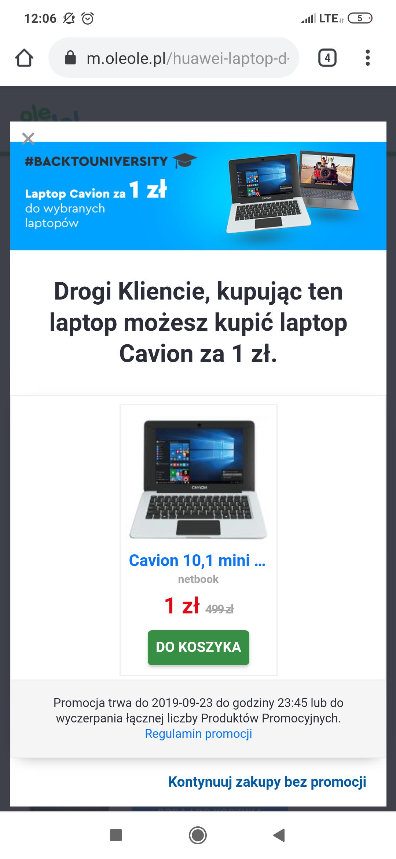Laptop Huawei matebook D 15.6 MX150 + Laptop Cavion za 1zl