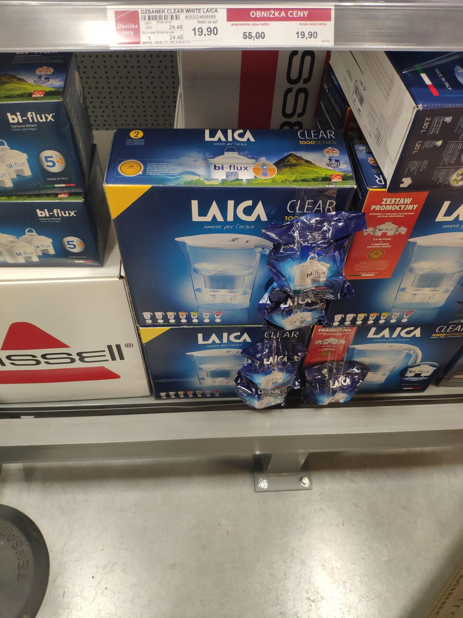 Dzbanek filtrujący Laica + 3 wkłady