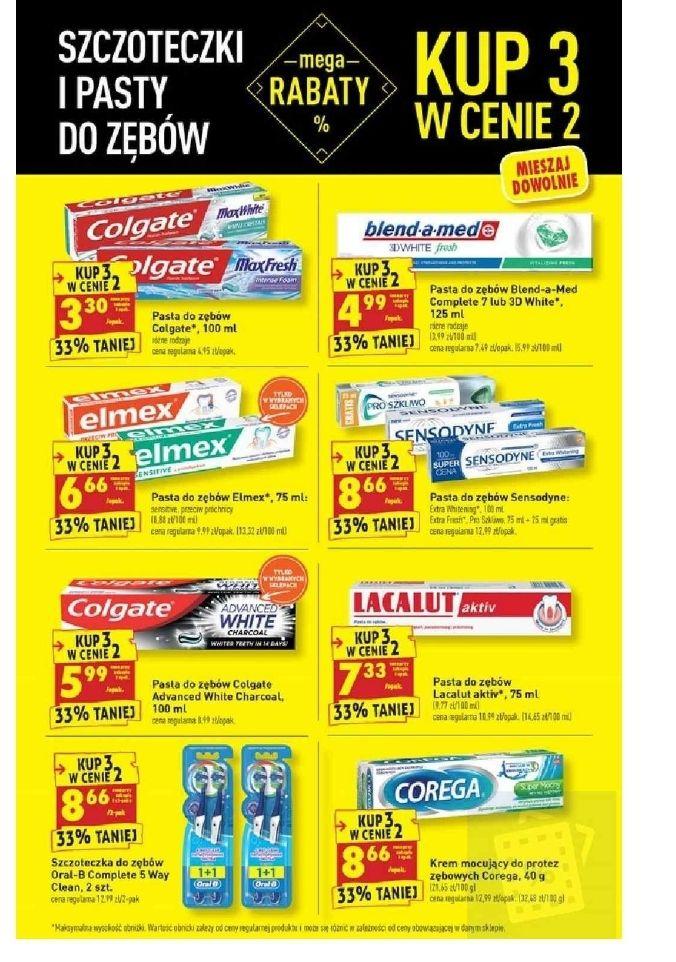Szczoteczki i pasty do zębów. Kup 3 w cenie 2. Biedronka