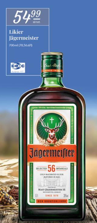 """Jagermeister 0.7 ziołowy """"mistrz polowania"""" [Stokrotka]"""