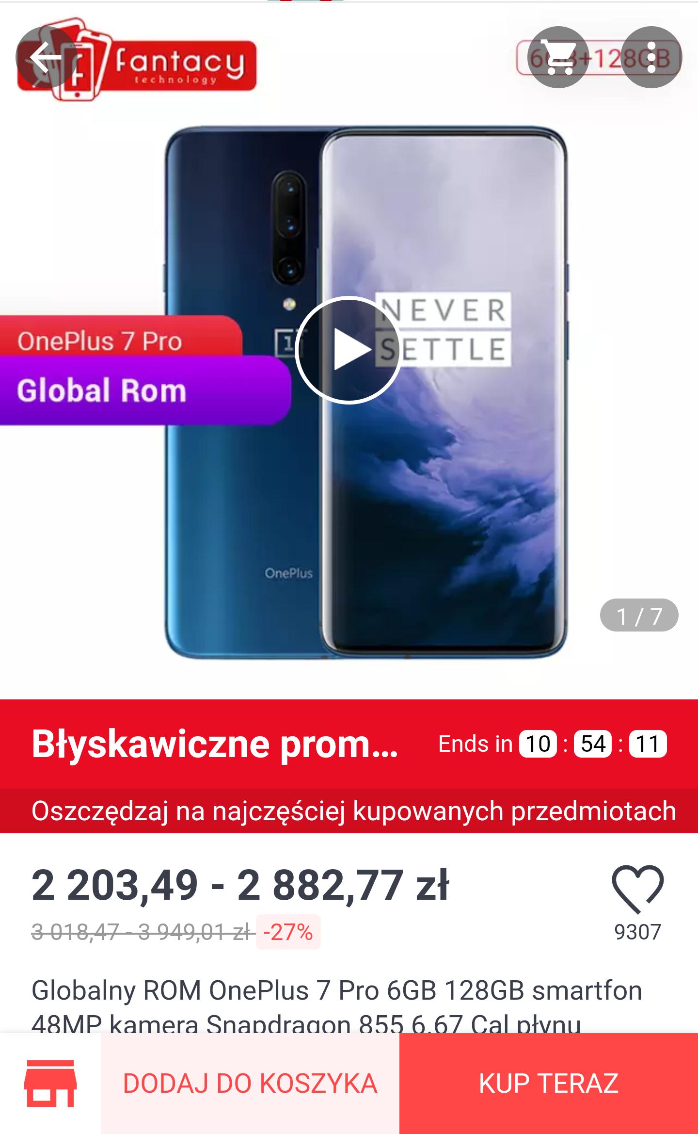 OnePlus 7 Pro - AliExpress darmowa wysyłka
