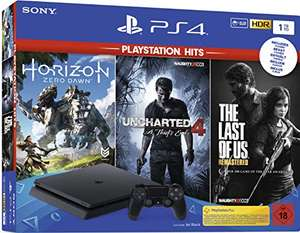 Konsola Sony Playstation PS4 Slim 1TB Uncharted 4+The Last of Us+Horizon Zero Dawn