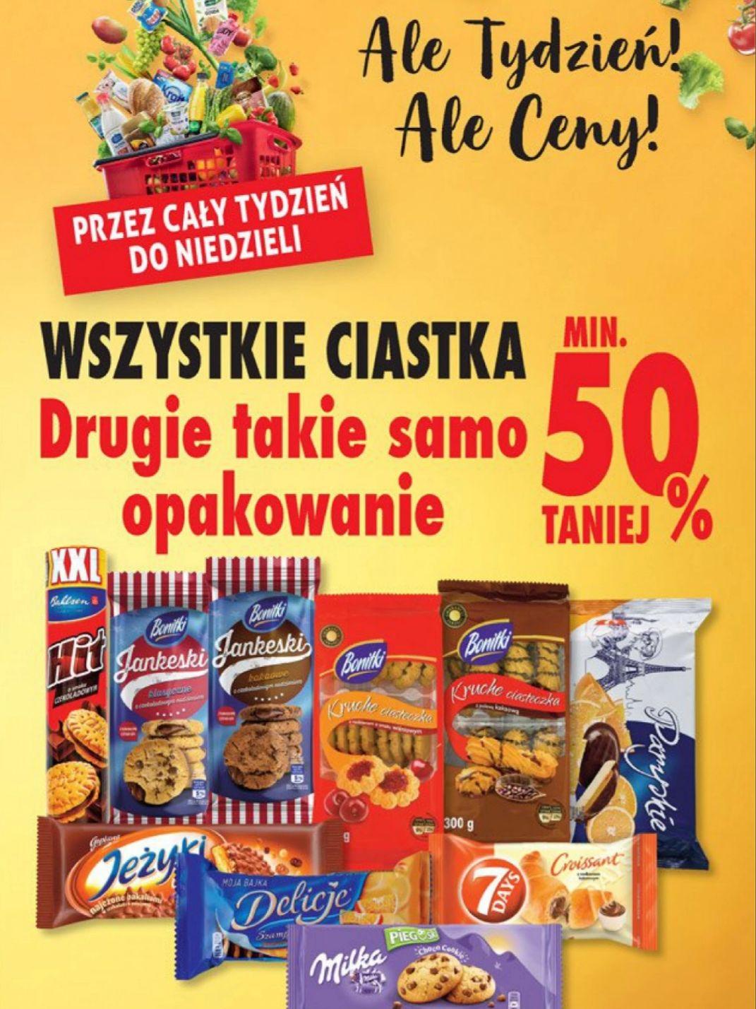 Wszystkie ciastka Drugie takie samo opakowanie min 50% taniej @Biedronka
