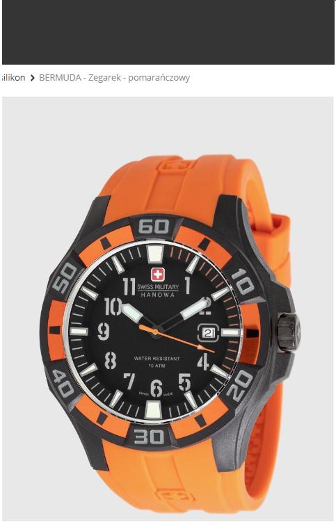 Swiss military hanowa - zegarek zegarki na wyprzedaży