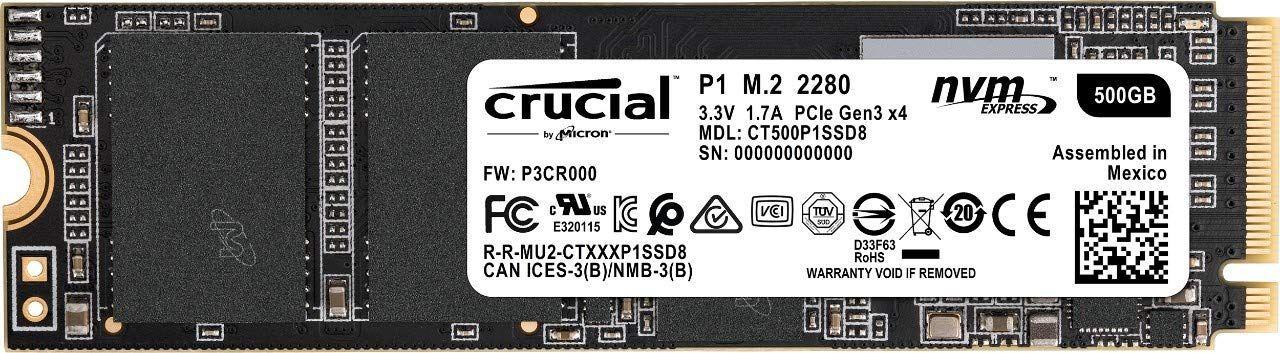 Dysk SSD Crucial 500GB M.2 PCIe NVMe P1 @Amazon.de