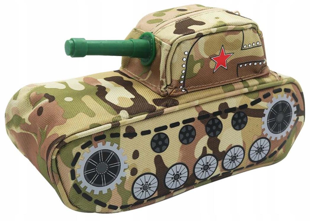 Piórnik militarny (czołg lub pojazd bojowy) z kłódką, Carrefour, odbiór 0zł