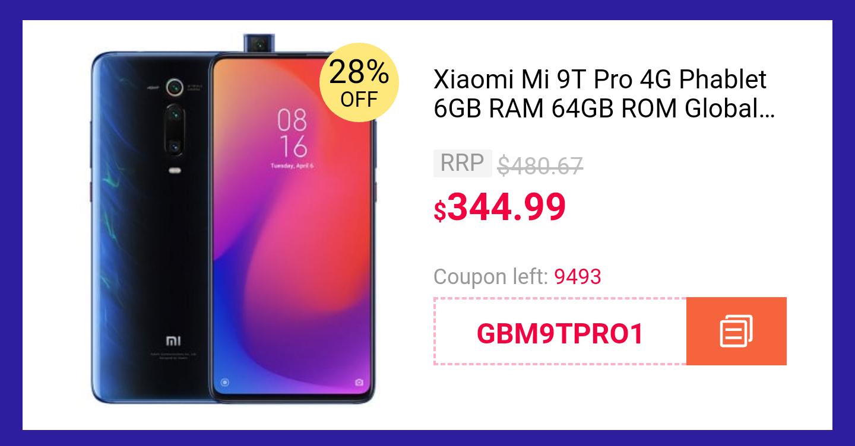 Xiaomi Mi 9T Pro - Gearbest darmowa dostawa