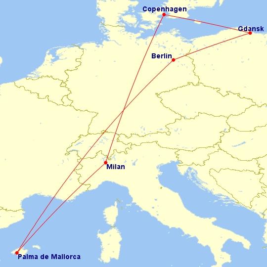 #Multicity [Berlin + Majorka + Mediolan + Kopenhaga] Loty z Gdańska w październiku