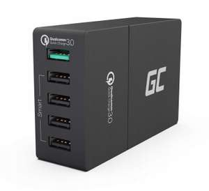 Ładowarka Green Cell, 5xUSB, 52W, Quick Charge 3.0
