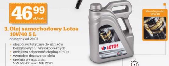 Olej samochodowy Lotos 10W40 5L @Biedronka