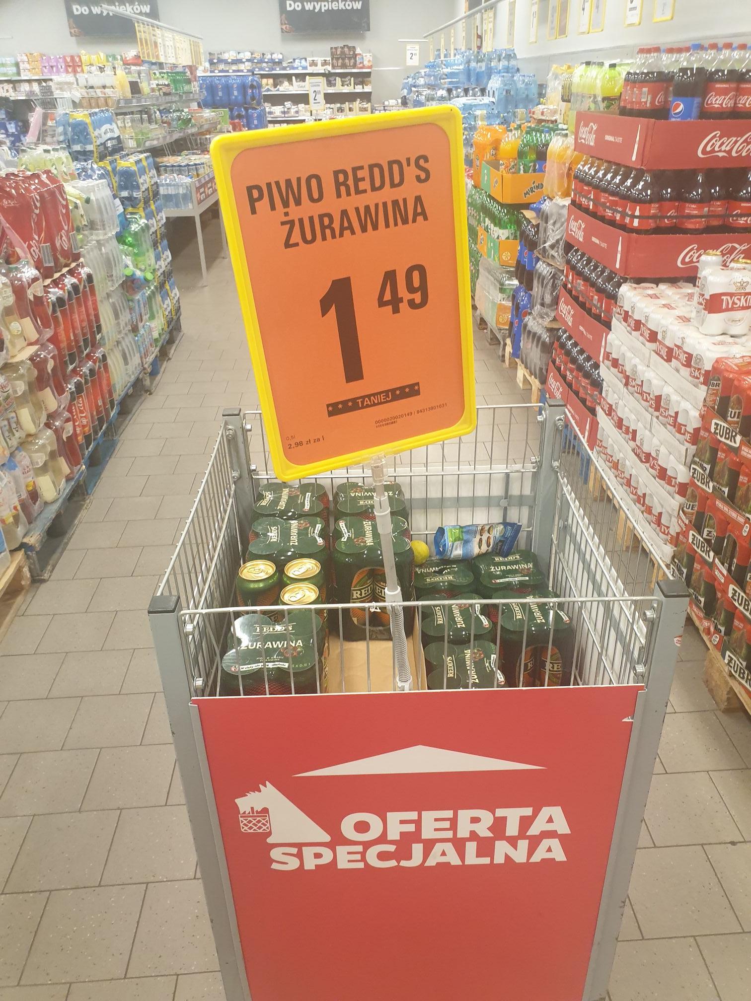 Redd's Piwo o smaku żurawiny 500 ml   NETTO WARSZAWA BERENSONA