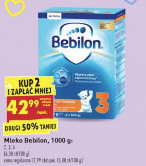 Biedronka - mleko Bebilon pronutra 2,3,4 przy zakupie 2szt.