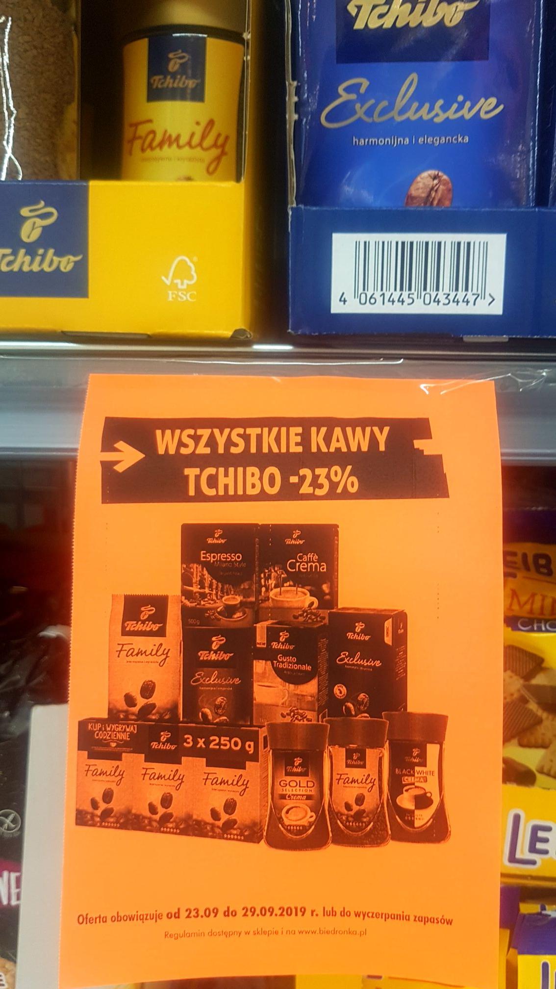 Wszystkie kawy Tchibo - Biedronka -23%
