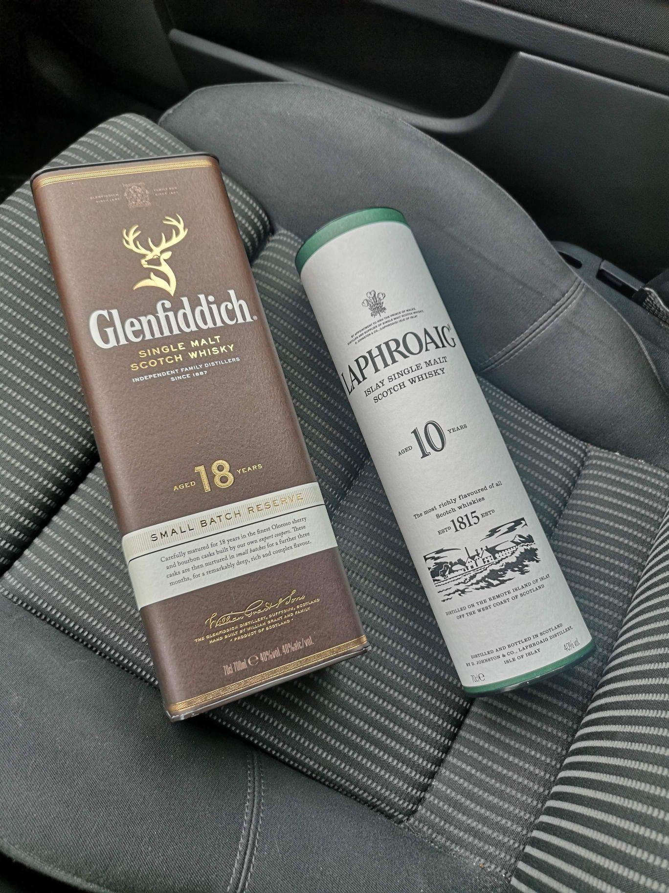 Whisky Glenfiddich 18 YO i Laphroaig 10YO Tesco Bydgoszcz