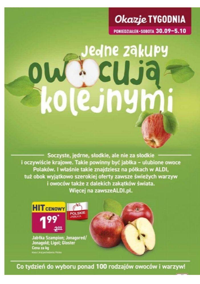 Jabłka Szampion, Jonagored, Jonagold, Ligol, Gloster. Aldi