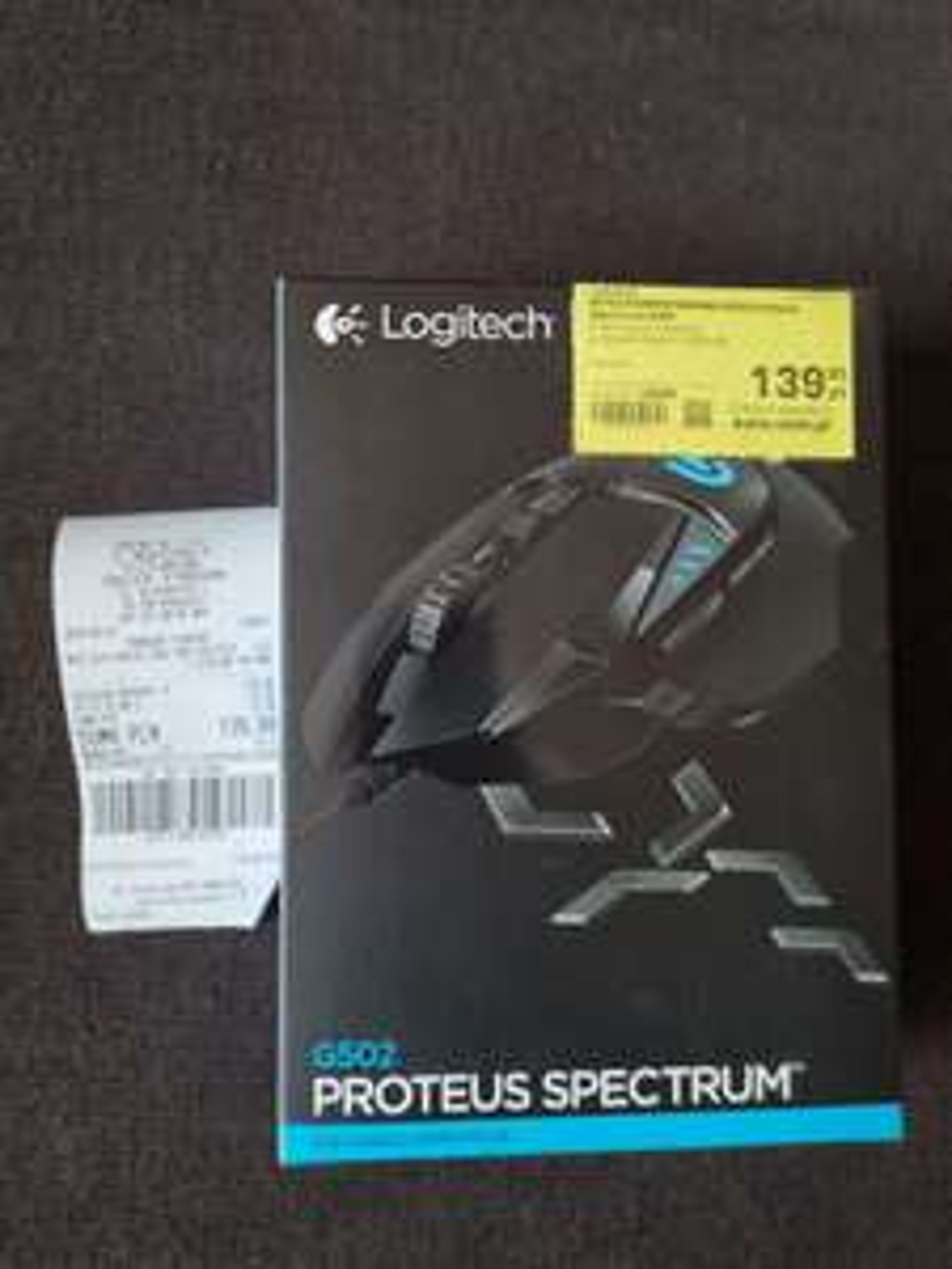 Mysz Logitech G502 Proteus Spectrum RGB - RTV EURO AGD