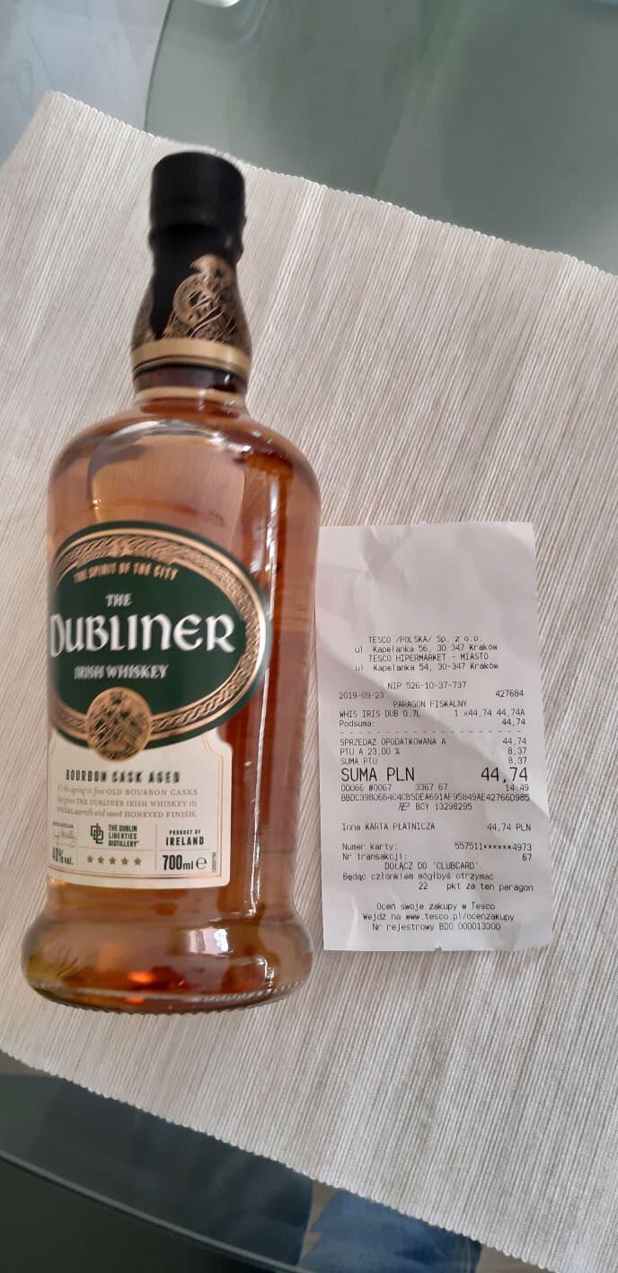 Whiskey The Dubliner 0,7 Tesco Kaplenka Kraków