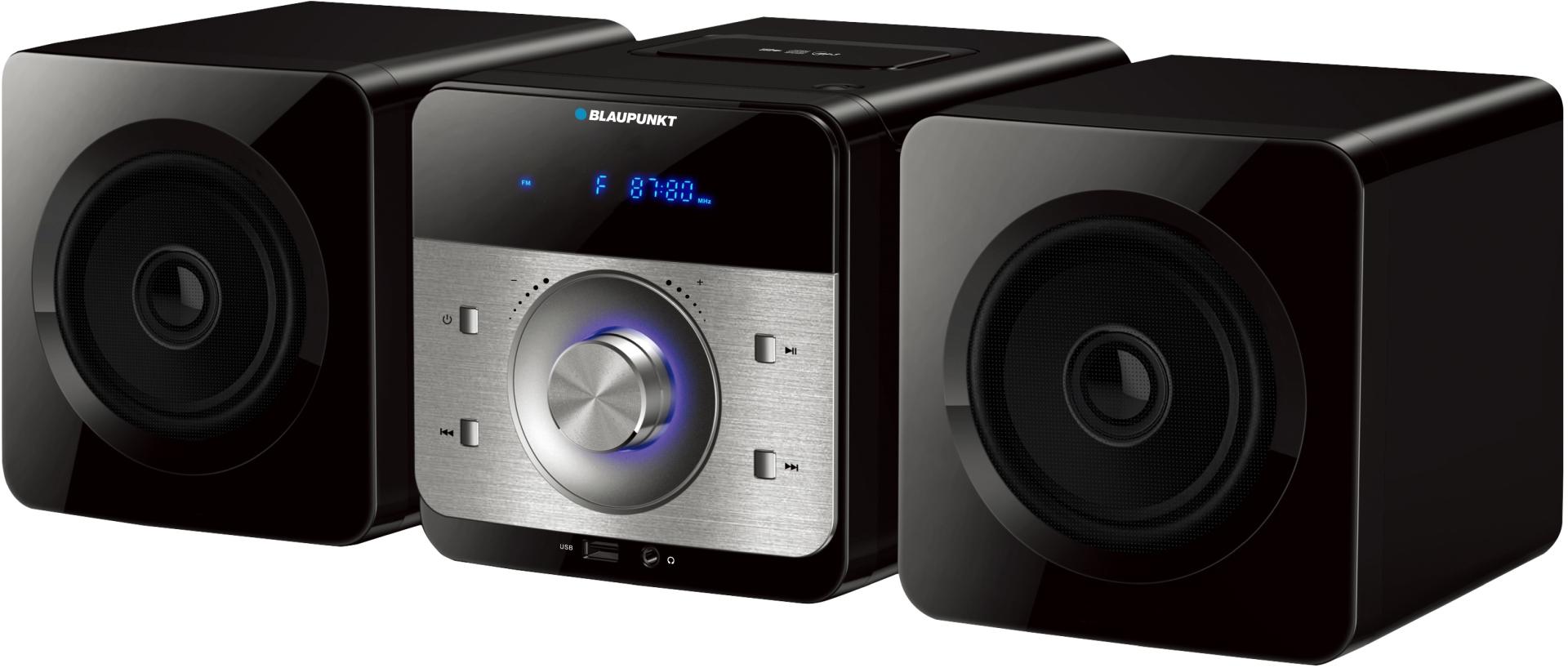 Miniwieża BLAUPUNKT MS6BK CD, USB, MP3, Radio, z pilotem, 30 W (RMS 10W)