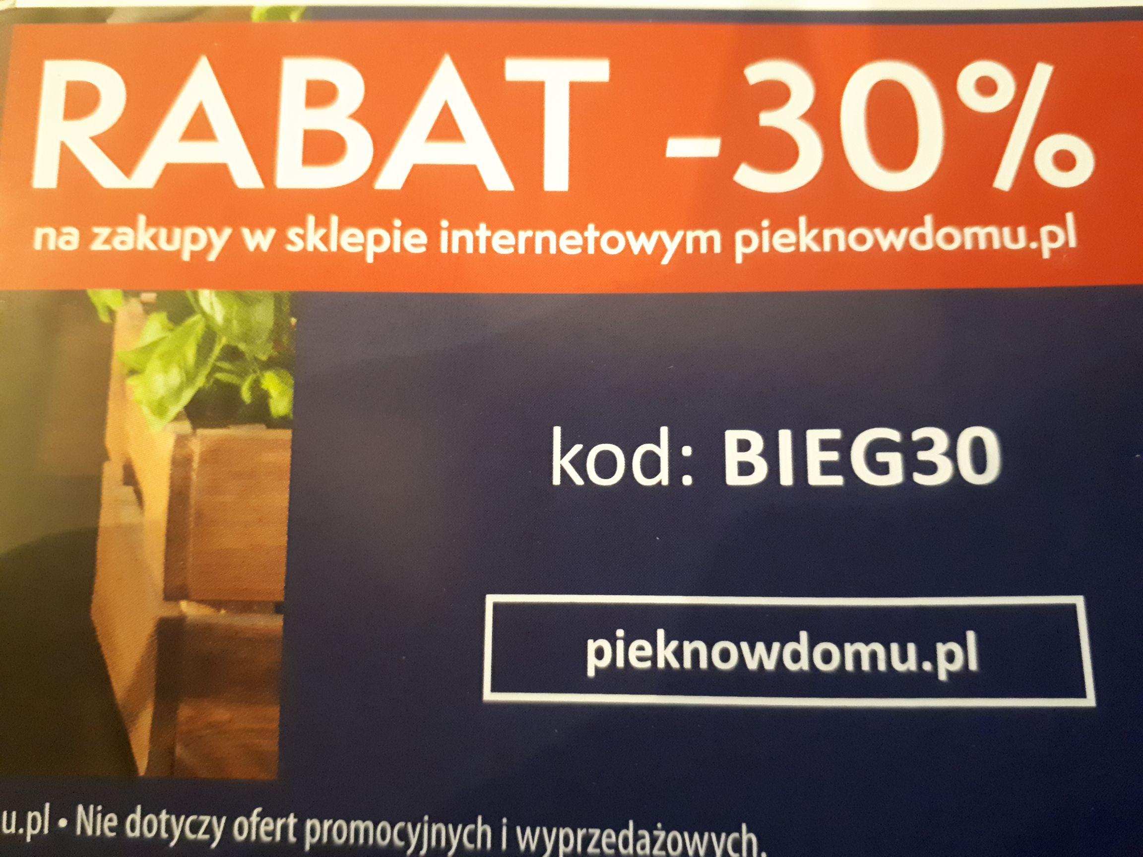 -30% na zakupy w sklepie pieknowdomu.pl