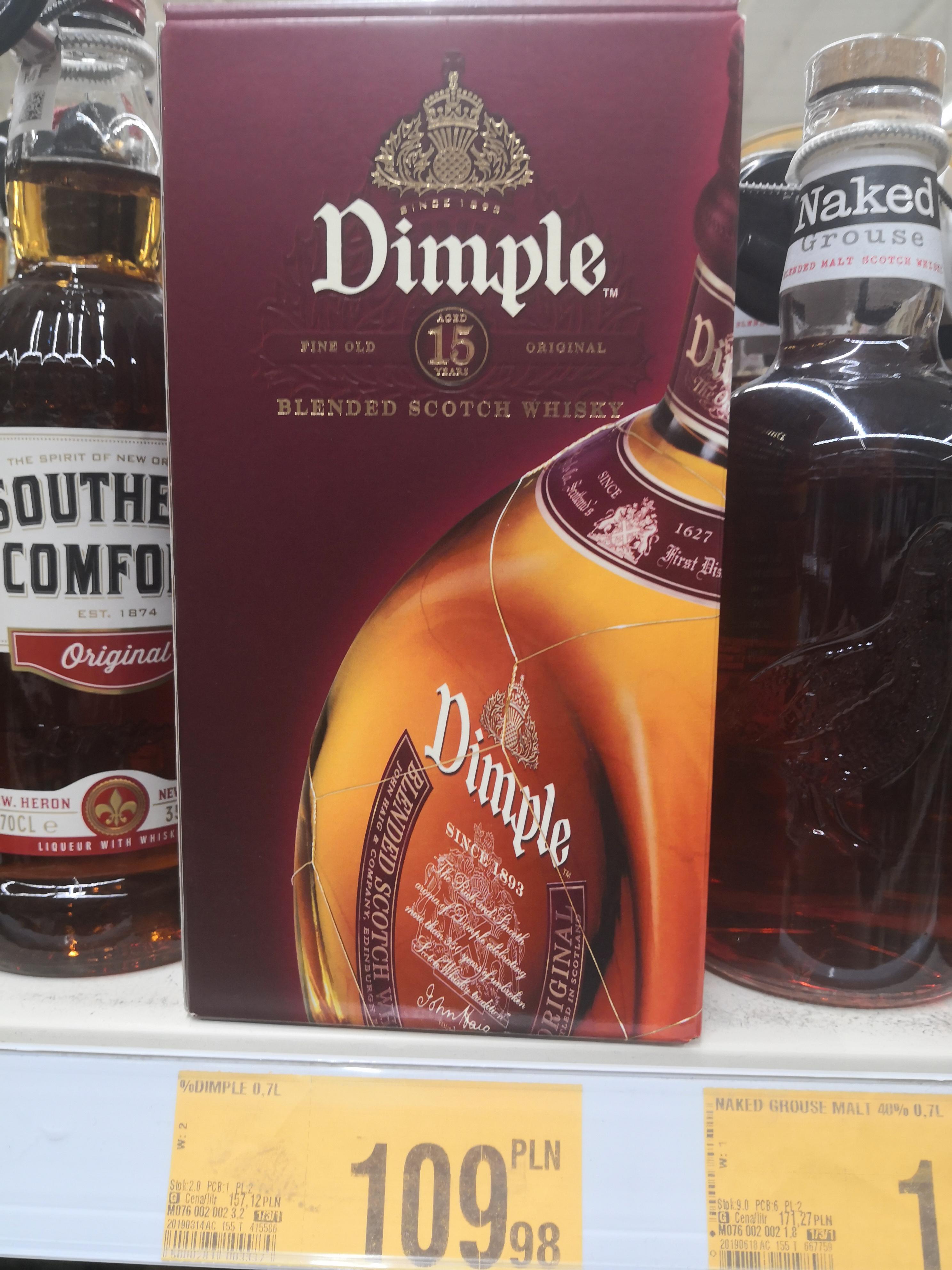 Whisky Dimple 15 yo 0.7 Auchan Krasne
