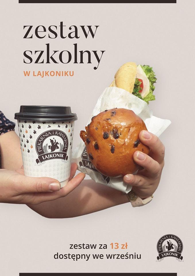 Kanapka, bułka drożdżowa i napój za 13zł @  Kawiarnie Lajkonik (Kraków, Katowice)