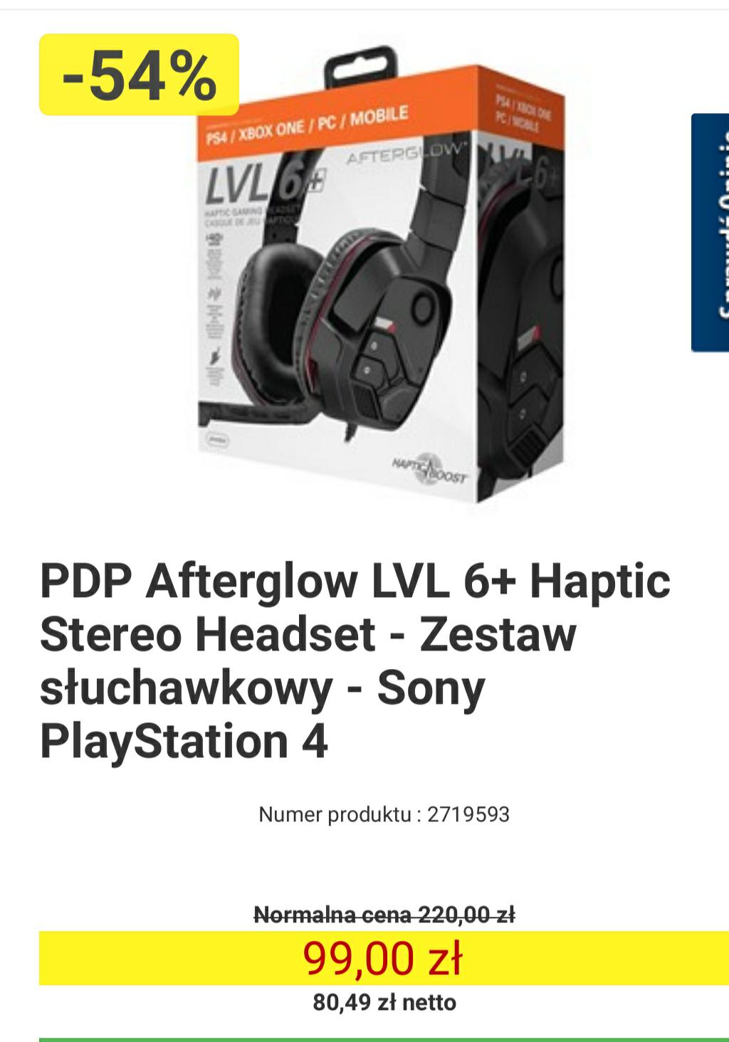 PDP Afterglow LVL 6+ Haptic Stereo Headset - Zestaw słuchawkowy